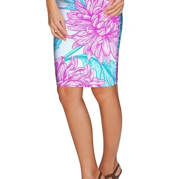 Floral Bliss Carol Knee Length Catchy Pencil Skirt - Women