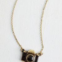 Quirky What Are You Waiting Photo Necklace by ModCloth