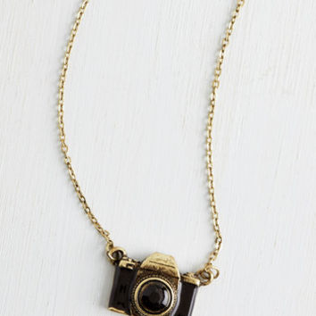 ModCloth Quirky What Are You Waiting Photo Necklace