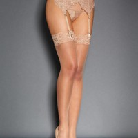 Emmy Scalloped Lace Stockings