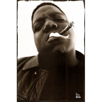 Notorious B.I.G. (Smoking) Music Poster Print