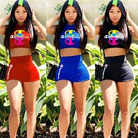 Champion New fashion letter print vest top and shorts two piece suit