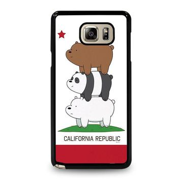 we bare bears california republic samsung galaxy note 5 case cover  number 1
