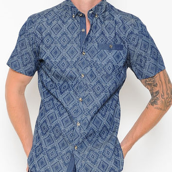 Maldon Short Sleeve Button Up Shirt by VOIZ