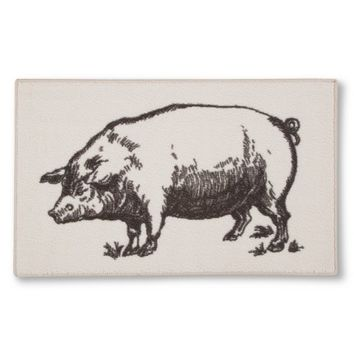Threshold Pig Kitchen Rug - Beige