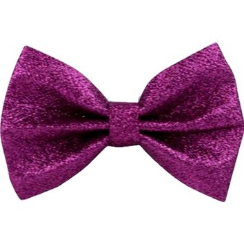 Glitter Hair Bow, Fuchsia