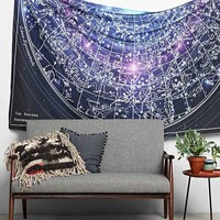 Magical Thinking Cosmic Astrology Tapestry- Blue Multi One
