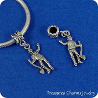 Tin Man European Dangle Bead Charm - Silver Wizard of Oz Tin Man Charm for European Bracelet