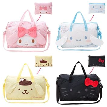 762e57a788 Kawaii Cute Cartoon Hello Kitty Cat My Melody Foldable Folding T. Item  Type  Travel Bags ...