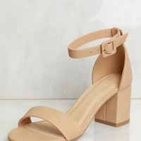 Low Strappy Heel Natural