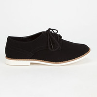 Soda Tiller Womens Oxford Shoes Black/White  In Sizes
