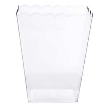 Clear Plastic Popcorn Style Candy Container - Large