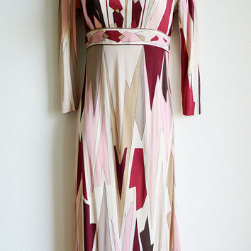 Emilio PUCCI silk patterned vintage dress