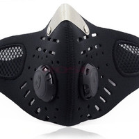 New Half Face Motorcycle Ski Anti-pollution Mask Outdoor Sports Mouth-muffle Dustproof With Filter TK0964|26601 = 1745449988