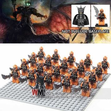Building Blocks 21pcs/lot WM1018 Mordor Orc Army Group Mouth of Sauron Lord of the Rings Children Toys NO BASEPLATE