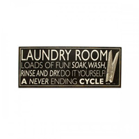 Laundry Room Wall Plaque (pack of 4)