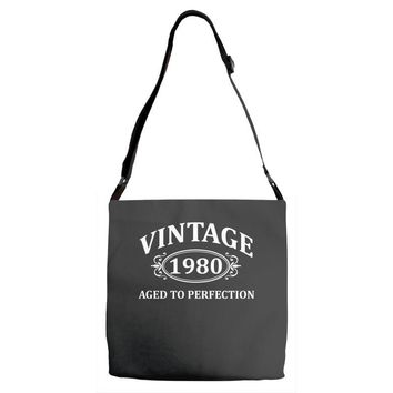 Vintage 1980 Aged to Perfection Adjustable Strap Totes