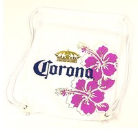 Corona Bag Cinch White with Flowers