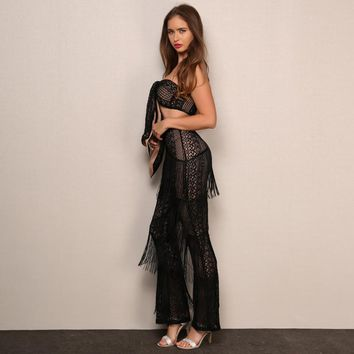 Fringe Tube Jumpsuits