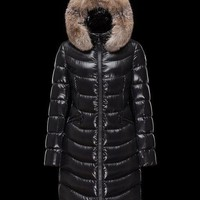 Moncler Albizia Removable Fox Fur Puffer Coat