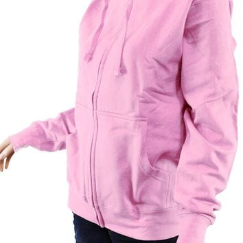 Plain Non-printed Blank Fleece Pocket Full Zip Neon Hoodie Men's Unisex