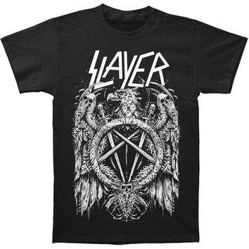 Slayer Men's  Skeleton Eagle T-shirt Black Rockabilia