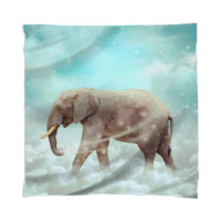 Walk With the Dreamers v.2 (Elephant in the Clouds) Scarf / Mini Wall Tapestry created by soaringanchordesigns | Print All Over Me
