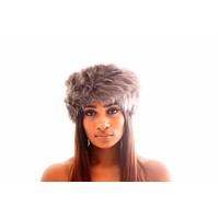 Faux Fur Headband- Grey