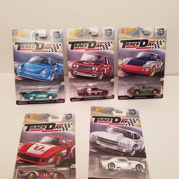 Set Of 5 Hot Wheels Track Day Car Culture NEW 2016 IN STOCK