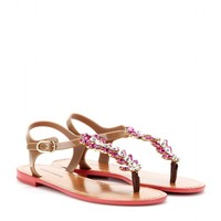 dolce & gabbana - embellished rubber sandals