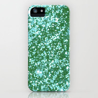 Teal Sparkle Blur iPhone Case by Rex Lambo | Society6