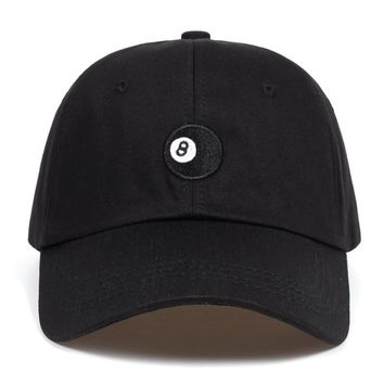Trendy Winter Jacket 8 Ball - black Unstructured dad hat fashion Baseball Caps High Quality Snapback Cotton% golf cap hats Garros Casquette AT_92_12