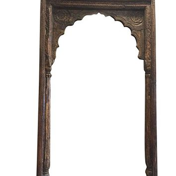 Antique Arch Mehrab Doorway Haveli Arches Floral Hand Carved Architectural18C