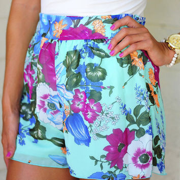 Botanical Gardens High Waisted Shorts | Hope's