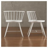Norfolk Low Windor Dining Chair Wood/White (Set of 2) - Inspire Q