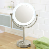 10X/1X Natural-Light Makeup Mirror at Brookstone—Buy Now!