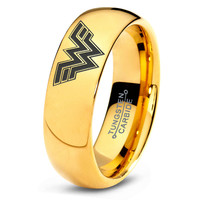 Wonder Woman Ring Comics Ring Jewelry Fanatic Geek Sci Fi Science Fiction Girls Womens Wonder Woman Ring Tungsten Carbide 155