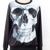 Punk Style Skull Skeleton Galaxy Colorful Halloween Patterns Sweatshirt Sweaters