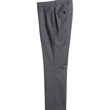 H&M - Suit Pants - Dark gray - Men