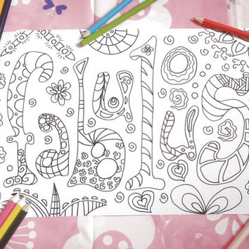 fabulous coloring book page kids fab gay adults instant download card colouring drawing meditation printable print doodle lasoffittadiste