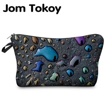 Jom Tokoy 3D Printing  Makeup Bags Multicolor Pattern Cute Cosmetics Pouchs For Travel Ladies Pouch Women Cosmetic Bag