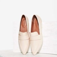 Jeffrey Campbell Belanger-2 Leather Flat - Beige
