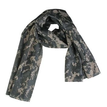 New Arrivals Breathable Anti-dust Camo Mesh Scarf Jungle Muffler Headband Tactical Outdoor Sports Hiking Climbing Accessories