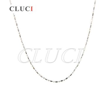 women necklace jewelry 925 sterling silver Figaro chain 16 inch or 18 inch