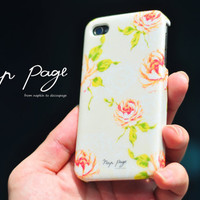Apple iphone case for iphone iphone 3Gs iphone 4 iphone 4s iPhone 5 : Vintage rose pattern