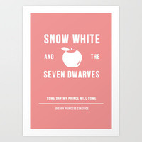 Disney Princesses: Snow White Minimalist Art Print by Ofalexandra