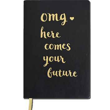 OMG Faux Leather Journal