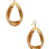 FOREVER 21 Twisted Drop Earrings Gold One