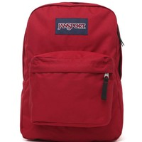 JanSport Super Break School Backpack - Womens Backpack - Red - One