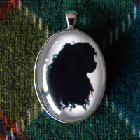 Merida Silhouette Disney Cameo Pendant Necklace